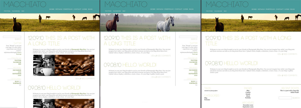 blog layouts macchiato Blog pages now more customizable!