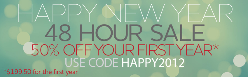 Happy2012 BLOG1 Happy New Year Sale!