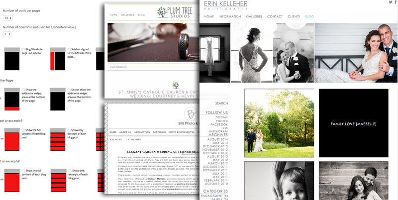 custom designs for photography blogs